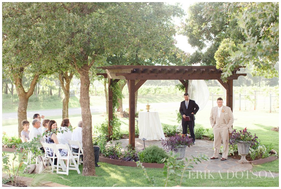 intimate wedding ceremony at riley vineyards